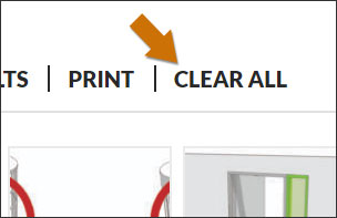 Clear all saved items
